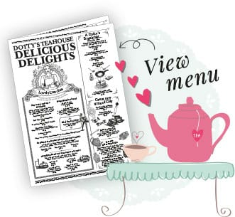 Dotty's Teahouse Menu